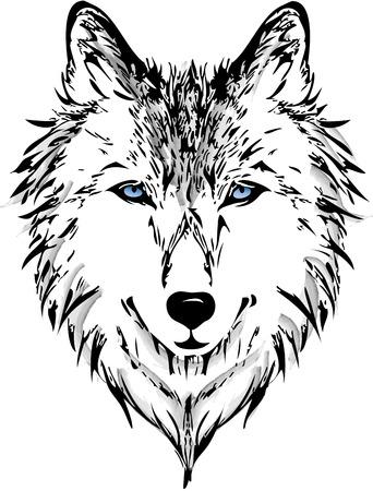 Wolf head Stock Illustratie
