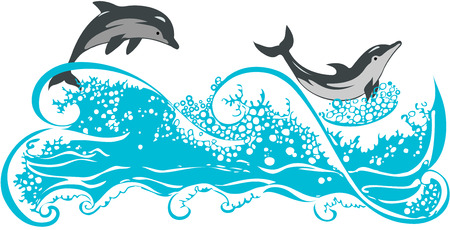 dolphins: Dolphins Illustration