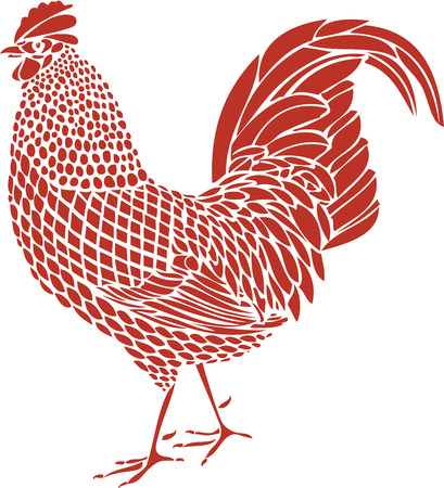crowing: Rooster Illustration