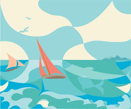 crew: Sailing Illustration