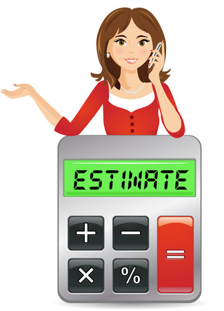 Bel om een schatting te krijgen Stock Illustratie