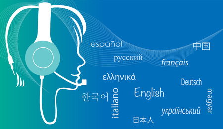 Multilingual assistantTranslator Banco de Imagens - 41963475