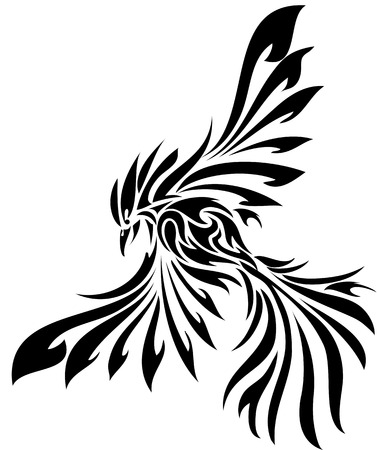 Tribal flying eagle bird 向量圖像
