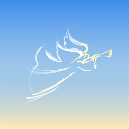 Angel in the sky Reklamní fotografie - 60008027