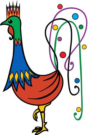 Stylized Rooster Ilustração