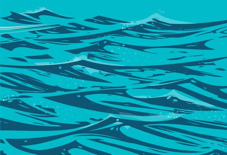 Ocean waves Иллюстрация