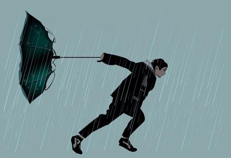 Al bladerend door regen en wind
