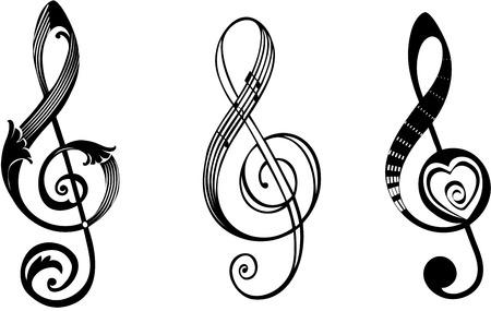 Treble clef Ilustração