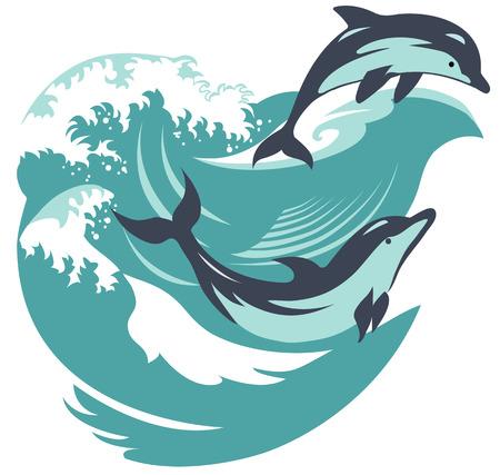 Dolfijnen die ons van het water