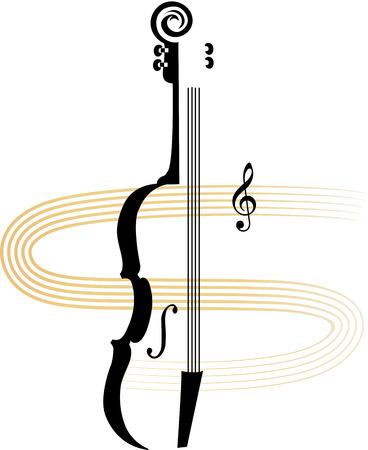 Violin Concert of Klassen Aankondiging Stock Illustratie