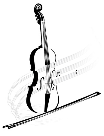 Violin with a bow