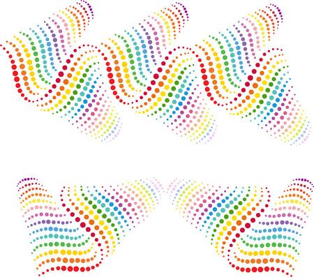 Rainbow abstracte golfpatroon