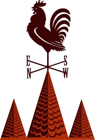 Haan windwijzer Stock Illustratie