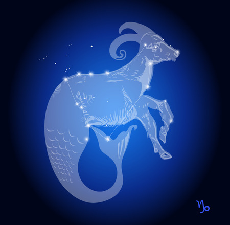 Capricorn Zodiac Constellation, astrologisch teken