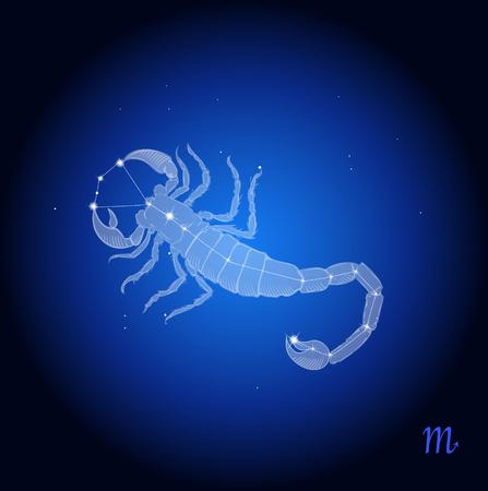 Scorpio Zodiac Constellation, astrologisch teken Stockfoto - 68864877