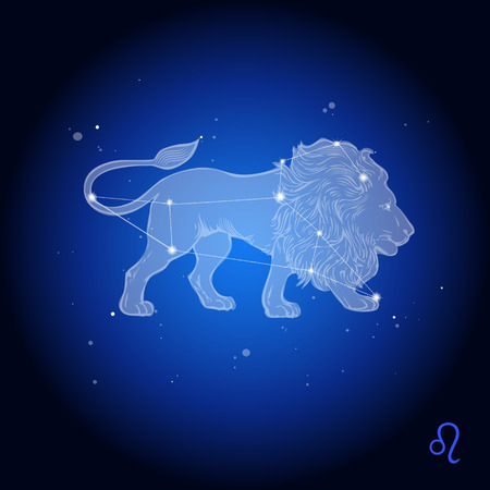 Leo Zodiac Constellation, astrologisch teken