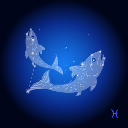 Pisces constellation astrological sign Çizim
