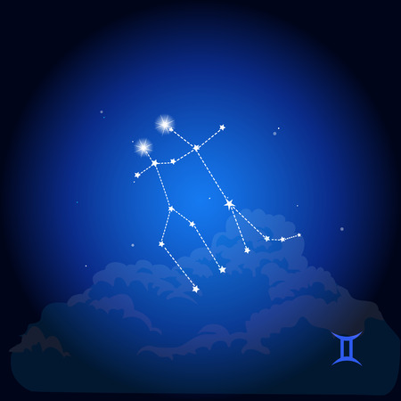 Constellatie, astrologisch teken Stock Illustratie