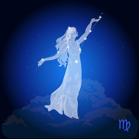 Maagd Constellation, astrologisch teken