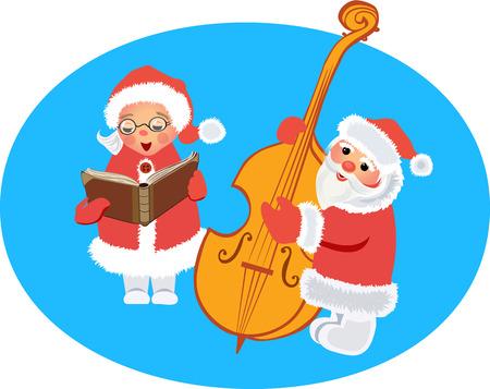 Christmas Carols Stock Illustratie