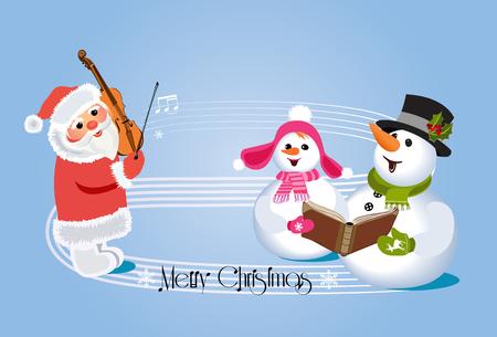 Christmas carols concert Illustration