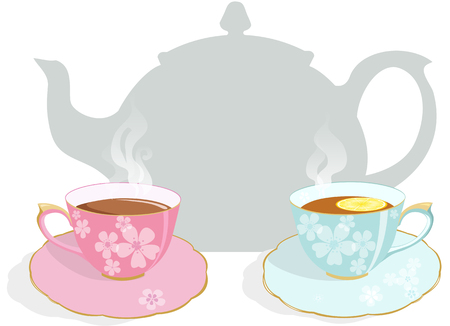 Tea party invitation Stock Illustratie