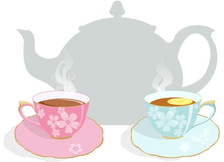 Tea party invitation Illustration