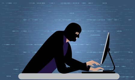 Computer hacker 向量圖像