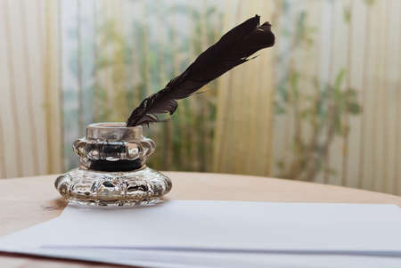 Feather and inkwell photo