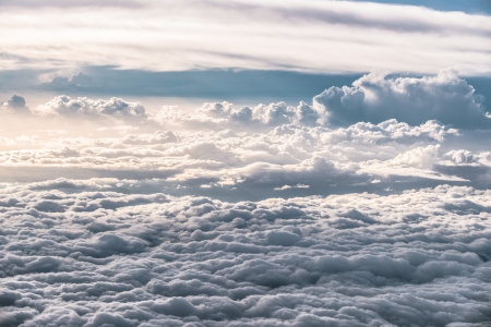 Cloud formations 10 000 feet above ground  Stock Photo