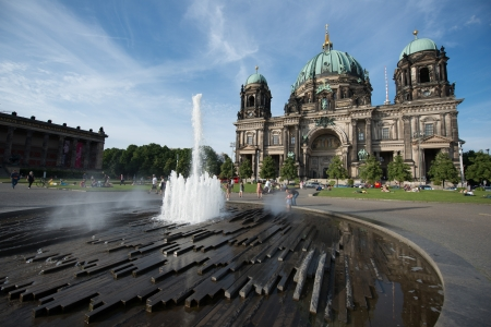 The Lustgarten ('Pleasure Garden') , a park on Museum Island in central Berlin