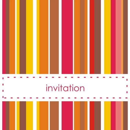 Vector card or invitation with strips and white background to put your own text Vector