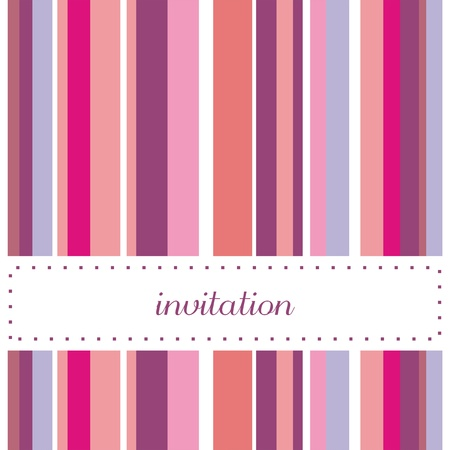 Sweet, violet, pink and blue card or invitation. Cute background with strips to put your own text message Vector