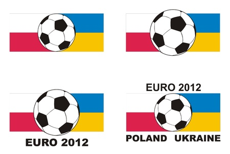 Football championship in Poland and Ukraine Euro 2012 - soccer, flag and text