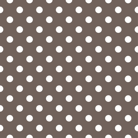 Vector seamless pattern with white polka dots on a dark brown background. For cards, invitations, wedding or baby shower albums, backgrounds, arts and scrapbooks. Illustration