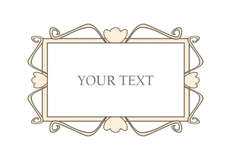 Sweet pastel retro art deco frame. Vector illustration isolated on white background with empty space to put picture or text Vector