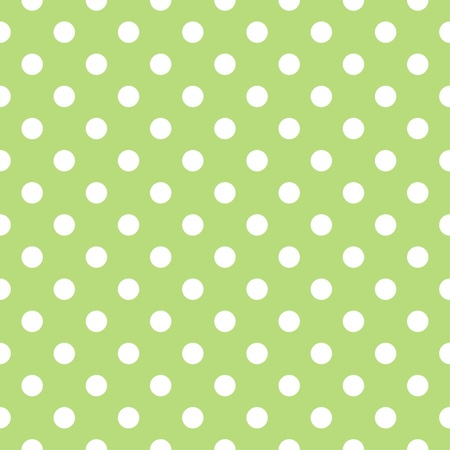 Vector seamless pattern with huge white polka dots on a retro fresh, spring green background. For cards, invitations, wedding or baby shower albums, backgrounds, arts and scrapbooks. Vector