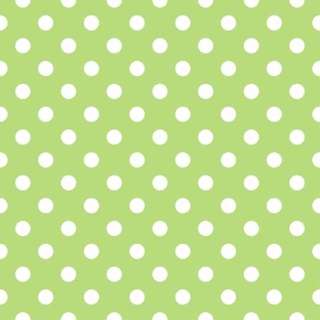 Wektor bez szwu o dużych białych kropek polka na retro świeżym, wiosennym zielonym tle. Dla karty, zaproszenia, wesele lub dziecko albumów prysznicowych, tła, sztuki i scrapbooks.