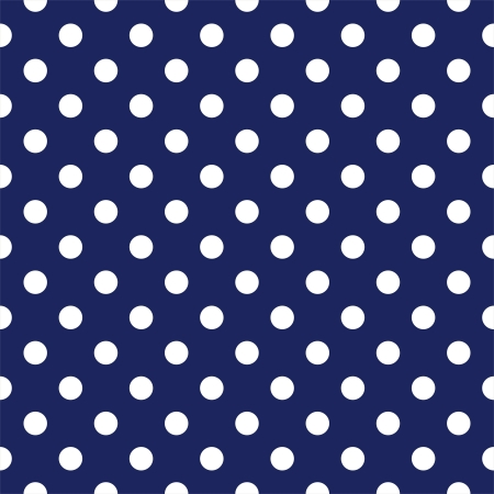 seamless pattern with white polka dots on a sailor navy blue background  Vector