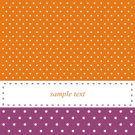 kopie: Oranžové a fialové retro 60 karet Ilustrace