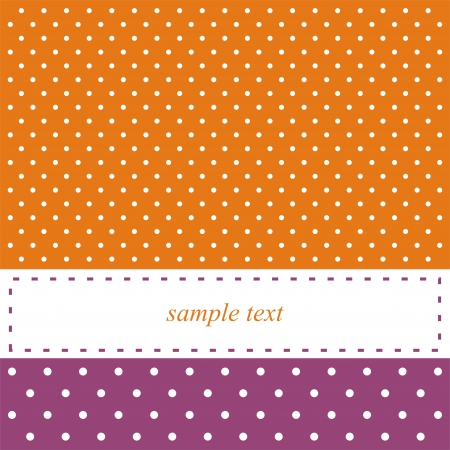 polka dots: Orange and violet retro 60  card