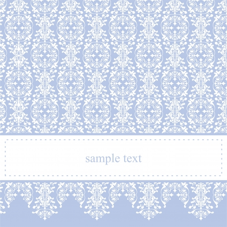 baby birthday party: Sweet, blue card or invitation for party, birthday, baby shower or wedding with white classic elegant lace. Cute background with white space to put your own text message.
