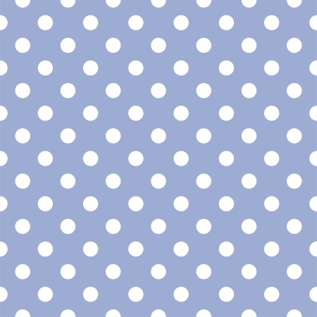 Seamless pattern with white polka dots on a sweet pastel blue background. For cards, invitations, wedding, baby shower, albums, backgrounds, arts, decorating or scrapbooks. Vector
