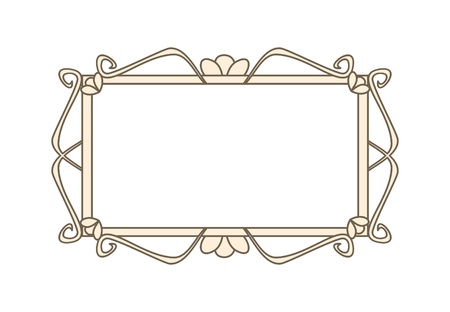 Sweet retro art deco frames illustration isolated on white background with empty space to put picture or text