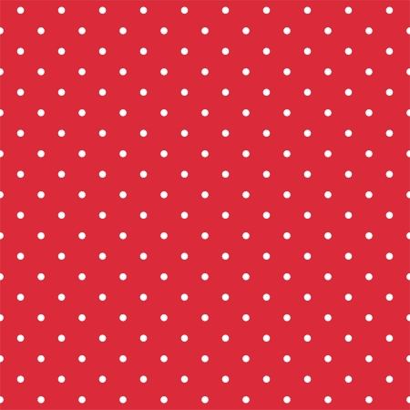 Retro vector pattern with white polka dots on red background - retro seamless pattern for backgrounds, blogs, www, scrapbooks, party or baby shower invitations and wedding cards  Vector