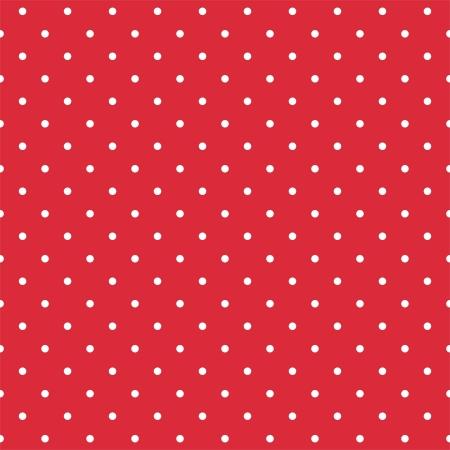 lunares rojos: Vector patrón retro con lunares blancos sobre fondo rojo - patrón seamless para los fondos, los blogs, www, álbumes de recortes, fiesta o invitaciones para baby shower y las tarjetas de boda Vectores