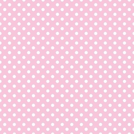 Seamless vector patrón con pequeños lunares blancos sobre un fondo rosa pastel. Para las tarjetas, álbumes, fondos, artes, artesanías, tejidos, decoración o libros de recuerdos.