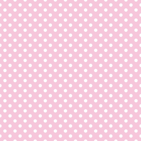 Vector seamless pattern with small white polka dots on a pastel pink background. For cards, albums, backgrounds, arts, crafts, fabrics, decorating or scrapbooks. Illustration