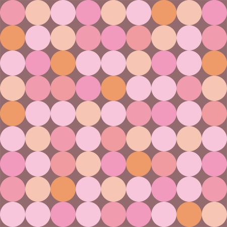 Seamless vector pattern or background with huge colorful dots on dark pink background  Retro design element for wallpapers, invitation, blog, web design od wedding Vector