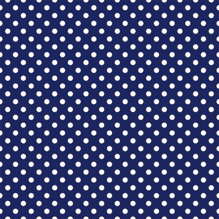 azul marino: Seamless vector patrón con lunares blancos sobre una textura de fondo azul marino azul marino para los álbumes de la ducha tarjetas, invitaciones, boda o el bebé, fondos, artes y álbumes de recortes
